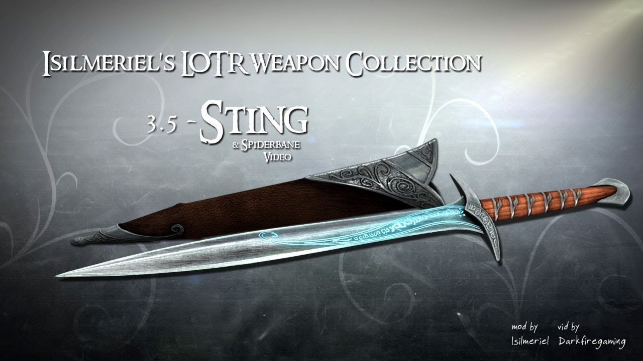 Isilmeriel Lotr Weapons Collection At Skyrim Nexus Mods And Community