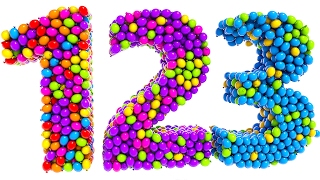Learning Numbers with Colored Balloons for Kids and Children