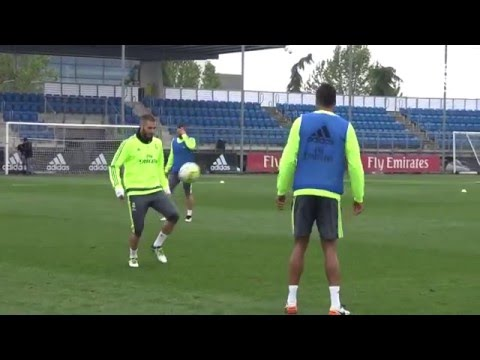 Benzema and Varane showcase their skills