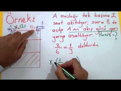 İşçi Havuz Problemleri 2 (Havuz Problemleri) Şenol Hoca Matematik