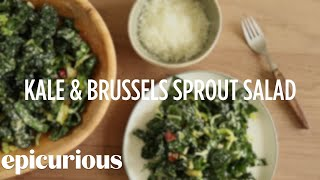 How To Make Kale & Brussels Sprout Salad — Epicurious
