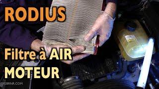Rodius 🚙  Changement du Filtre à air Moteur 🚬