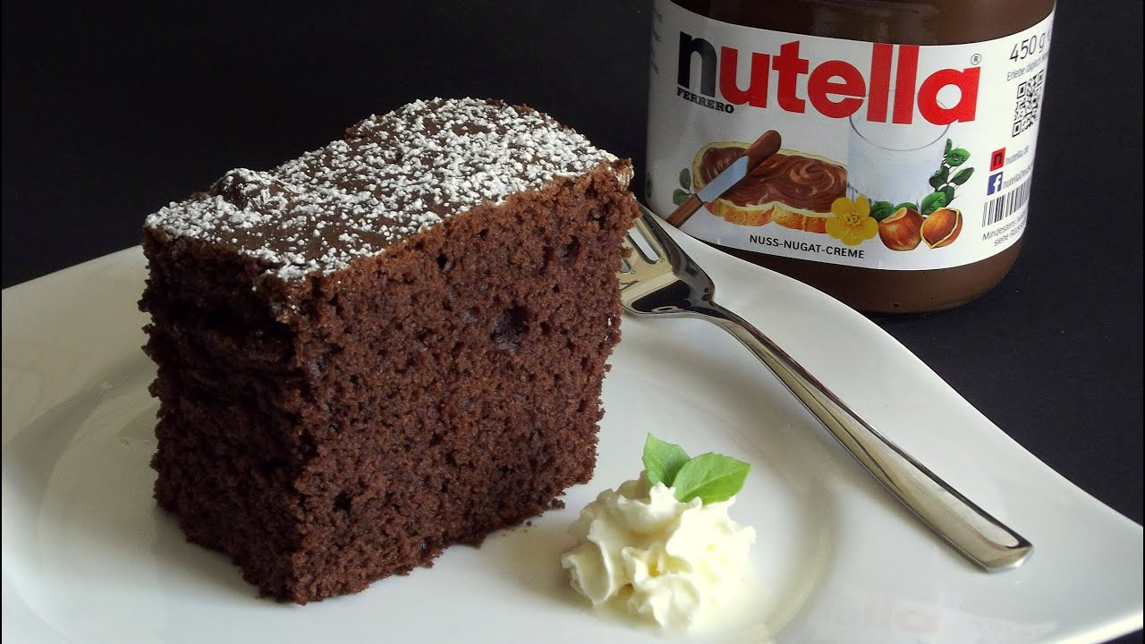 nutella kuchen youtube