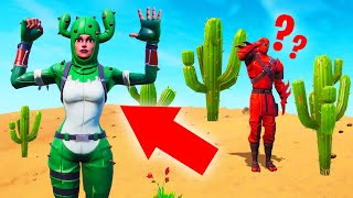 Hiding As A CACTUS In FORTNITE! (Hide And Seek)