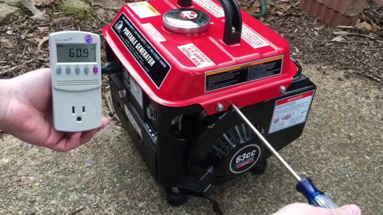 stormcat 900 watt portable generator voltage adjustment