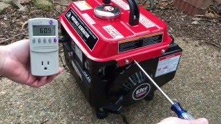 StormCat 900 watt portable generator voltage adjustment