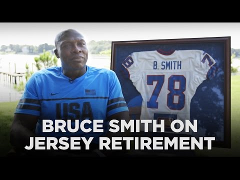 Bills legend Bruce Smith on his jersey retirement