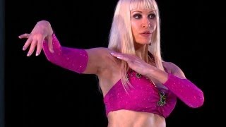 Belly Dance How to: Snake Arms / Arm Wave Move - Belly Dancing - with Neon
