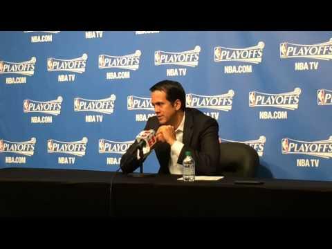Miami Heat Coach Erik Spoelstra talks about Game 4 win over Brooklyn Nets