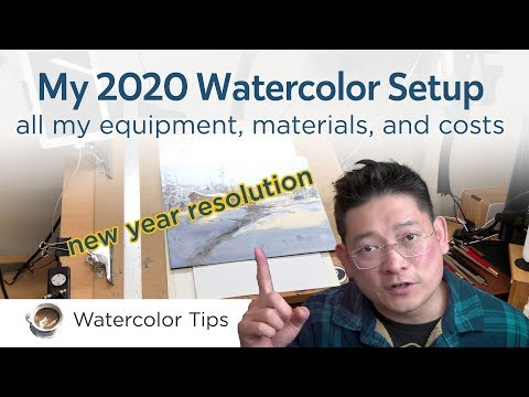 Watercolor Materials And Equipment - My 2020 Setup And Cost