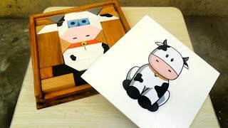 Handmade Wood Toy Block Puzzles