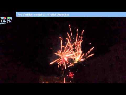 Feu d'artifice annuel de la ville d'Annonay