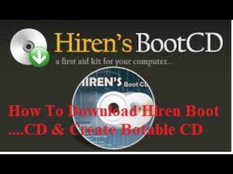 Hiren's 15.2 Boot CD Downloading And Create Bootable CD