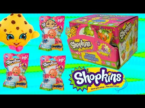 Season 1 Shopkins Plush Hangers Box Of Surprise Blind Bags Full Set Of 5 - Cookieswirlc Videos