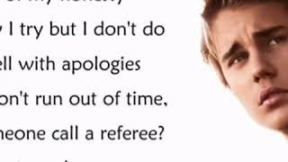 sorry lyrics video song