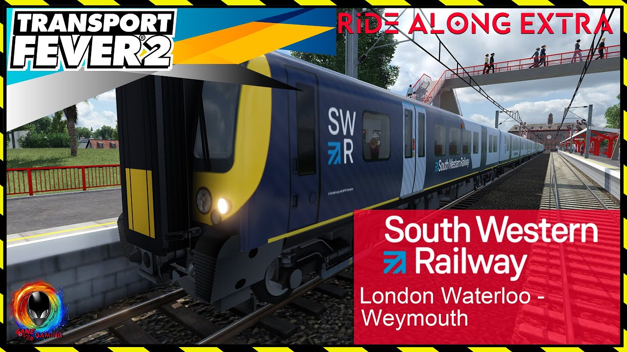 London Waterloo - Weymouth SWR Class 450 | Transport Fever 2 Ride Along Extra