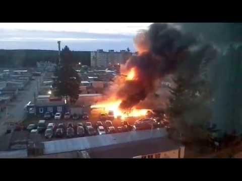 пожар в Сертолово на стоянке 20.07.2016