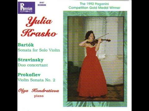 Bartok, Stravinsky, Prokofiev played by Julia Krasko violin, Olga Kondratieva, piano