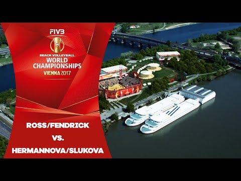 Fendrick/Ross (USA) v Hermannova/Slukova (CZE) - FIVB Beach Volley World Champs