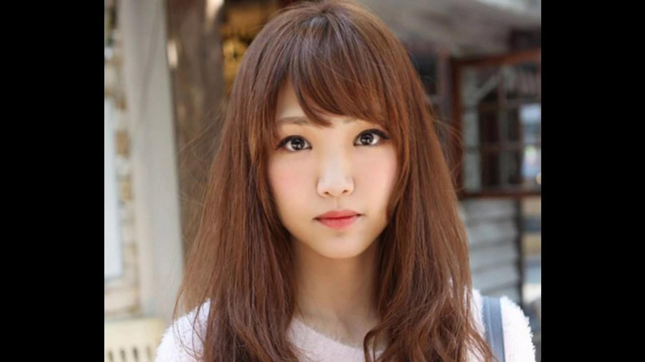 peinados coreanos con flequillo lateral sencillos y bonitos