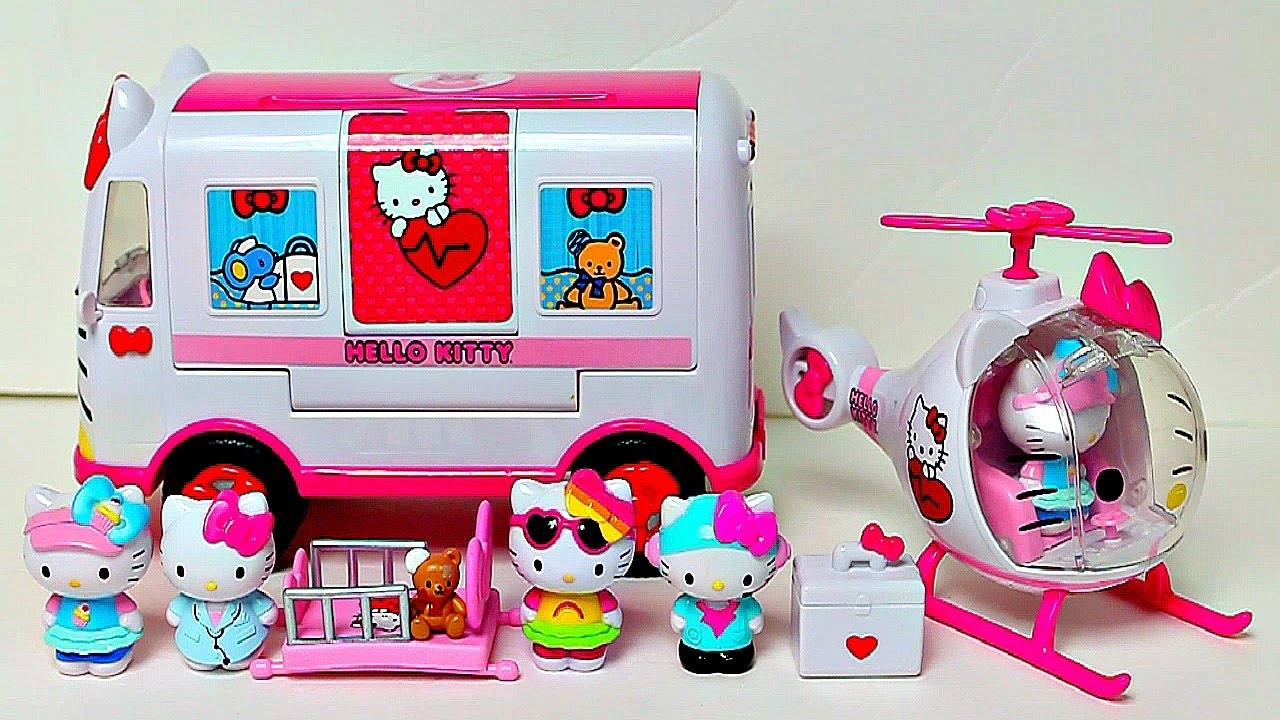 Hello Kitty Toys Set : Hello kitty rescue set toy review youtube
