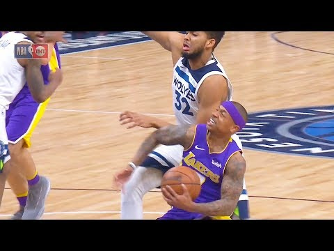 Isaiah Thomas Tries to Score on Karl Anthony Towns and Gets Shuts Down! Lakers vs Timberwolves