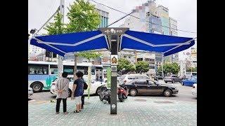자동개폐에 보안등 역할도…서울 관악구에 '스마트 그늘막…
