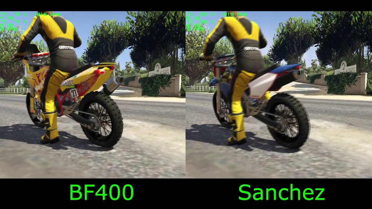 Gta 5 Dlc New Nagasaki Bf400 Vs Sanchez Fastest Motocross Bike
