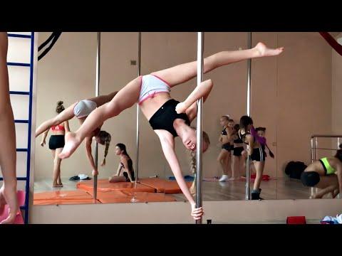 POLE SPORT KIDS TRAINING | Тренировки акробатика , гимнастика на пилоне обучение детей трюкам