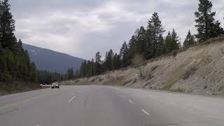 Driving to Cranbrook City in British Columbia (BC) Canada - Crowsnest Highway - Scenic Drive