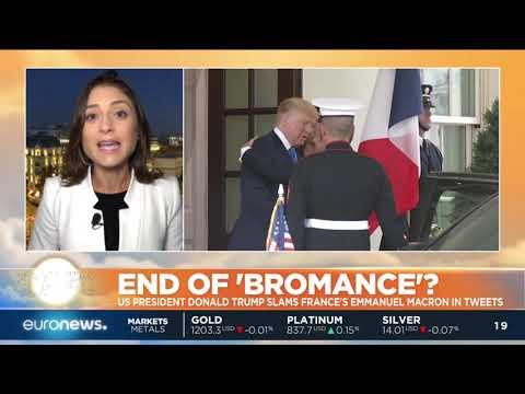 End of 'bromance'? Trump slams Macron in Tweets | #GME