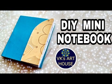 DIY mini diary out of Paper || pocket diary making by VK's ART HOUSE