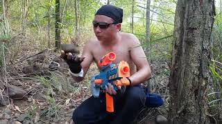 Action Movies Nerf War, pretty girl gang the mafia thkidnappede man action Superhero rescue