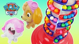 Learn colors with gumball machine, slime