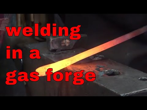 Forge welding in a gas forge - fact or fiction