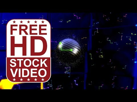 FREE HD video backgrounds - abstract blue hi tech digital technology business background
