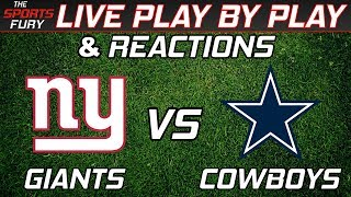 New York Giants vs Dallas Cowboys | Live Play-By-Play & Reactions