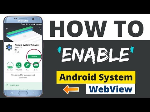How To Enable/disable Android System WebView In Any Device 2018