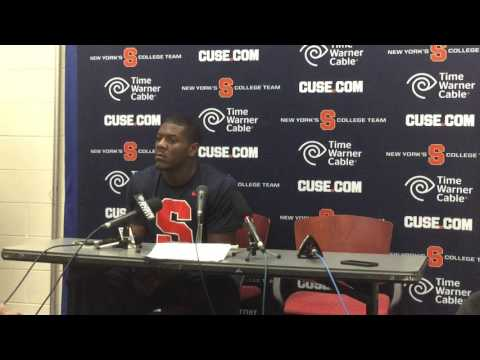 Linebacker Zaire Franklin Press Conference Part 1 Syracuse vs Virginia Football October 17, 2015