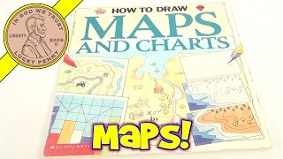 How To Draw Map and Charts Paperback Book, by Pam Beasant - 1993 Scholastic