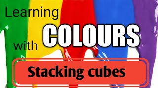 Learn colors for children with stacking cubes|big and small