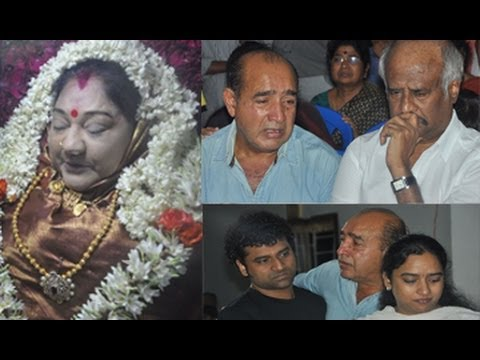 actress manjula vijayakumar last journey photos
