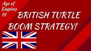 British Turtle Boom Strategy! AoE III