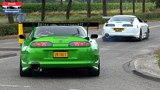 Modified Cars Leaving a Car Meet! - 800HP Supra, Skyline, RX7, Cupra, Silvia, Chaser...