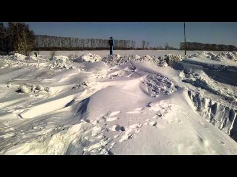 после метели 10 марта, где то в Сибири