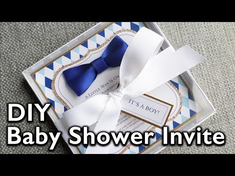 DIY Bow Tie Baby Shower Invitation | Eternal Stationery