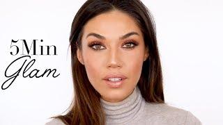 The Easiest Glam Makeup Look Ever!   5 Min Smokey Eye   Eman