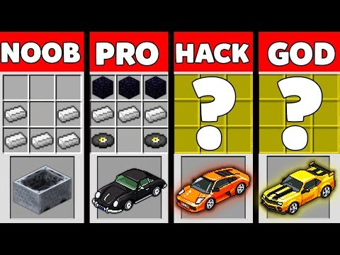 Minecraft Battle: NOOB vs PRO vs HACKER vs GOD : SUPER CAR Challenge in Minecraft Animation