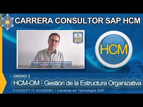 SAP HCM: Carrera Consultor SAP HCM - Unidad 2: HCM-OM - Estructura Organizativa  | CVOSOFT.com