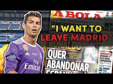 RONALDO LEAVE REAL MADRID?? Latest Transfer News 5.1.2018 ESPN FC